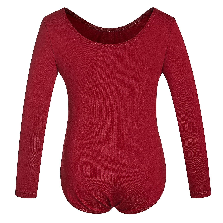 DANSHOW Girls Team Basic Long Sleeve Leotard Toddler Gymnastics Dance Ballet Clothing