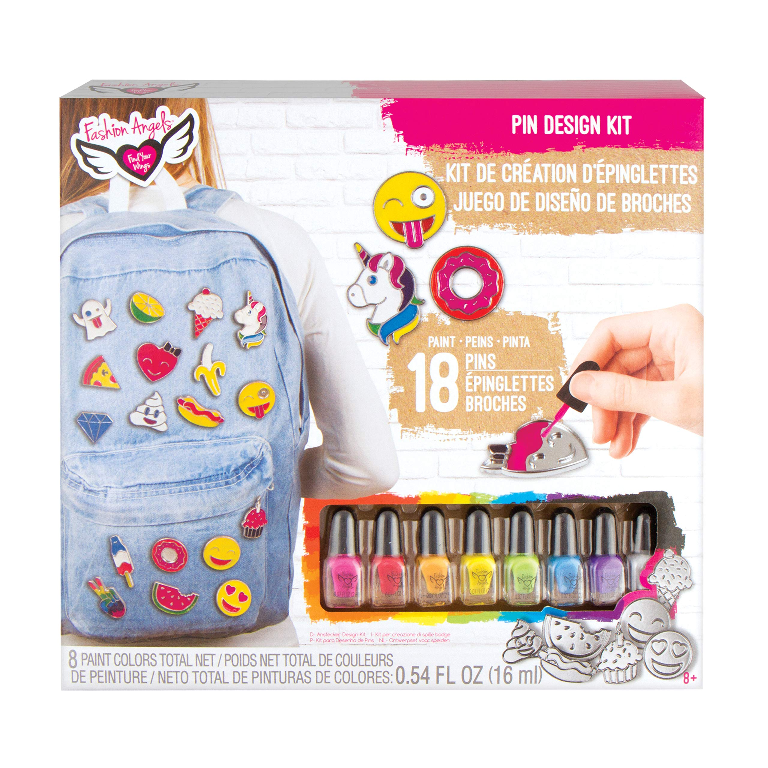 Fashion Angels Enamel Pins Kit, Multicolor