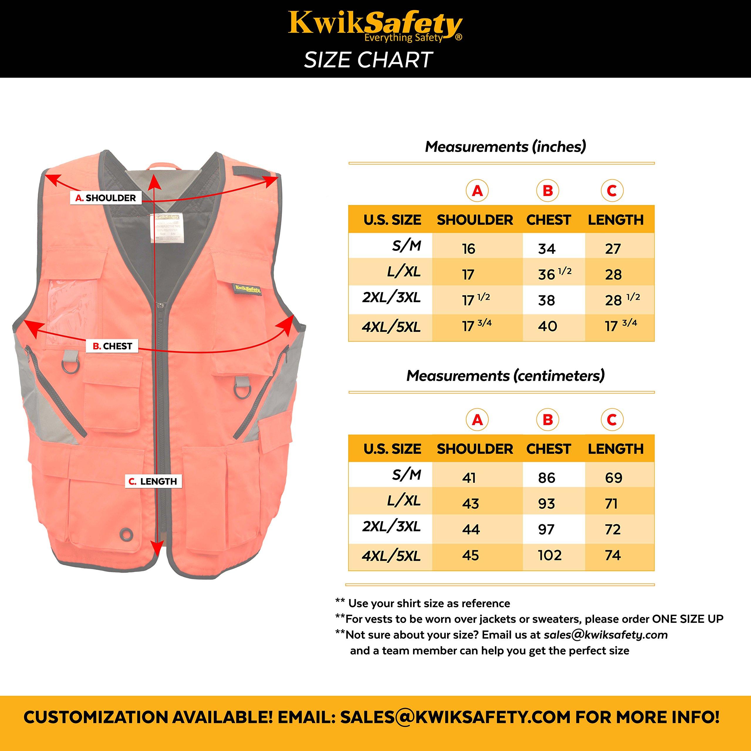 KwikSafety (Charlotte, NC) ARTISAN Tool Vest | Reflective Multi Pocket Lightweight Work Wear | Hi Vis Volunteer Emergency Crew Surveyor Carpenter Electrician Engineer | Men Women Regular | 4XL/5XL by KwikSafety (Image #9)
