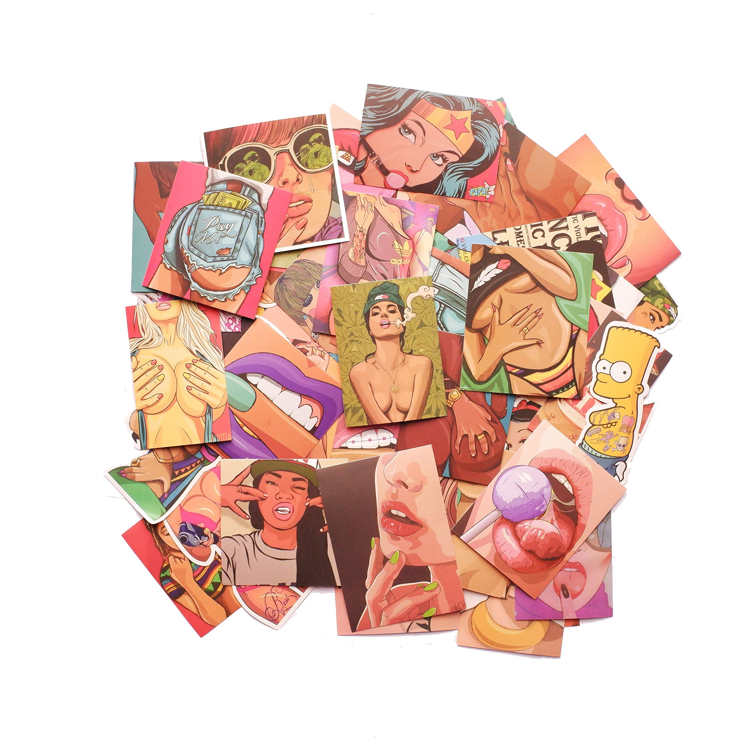 Stickers Calcos 47 un. Sexy Origen U.S.A. (7H6MTB58)