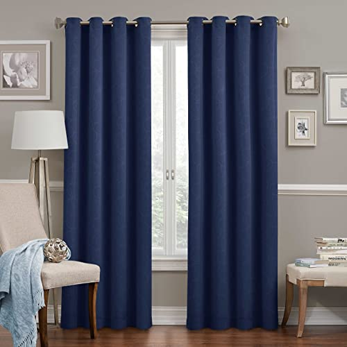 ECLIPSE 52″ x 95″ Insulated Darkening Single Panel Grommet Top Window Treatment Curtain