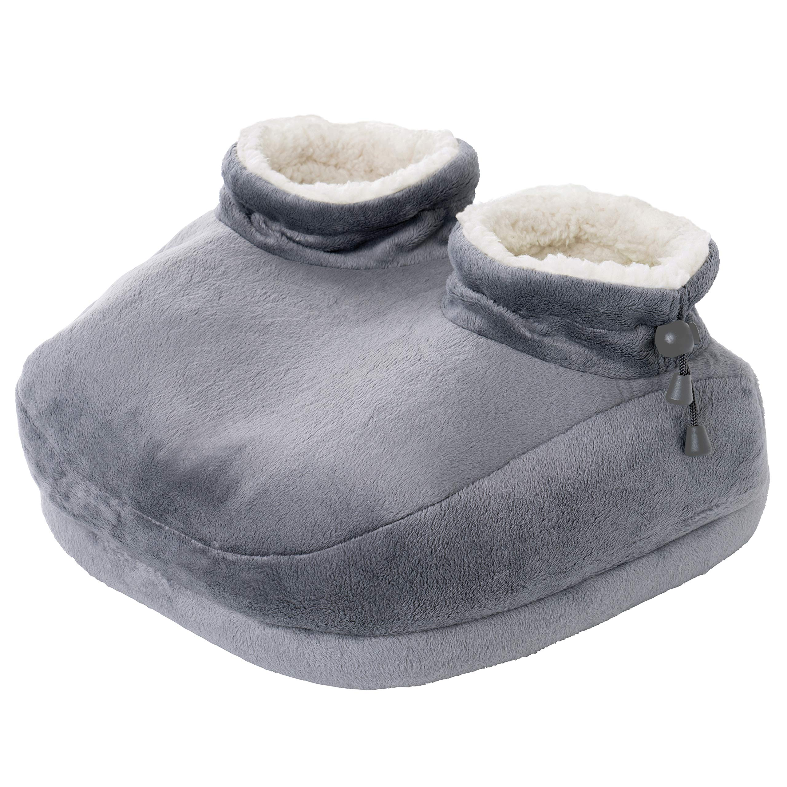 Pure Enrichment PureRelief Deluxe Foot Warmer - Super-Soft Sherpa-Lined, Fast-Heating Electric Boots with 4 Temperature Settings, Machine-Washable Fabric, Durable Anti-Slip Sole and Auto Shut-Off by Pure Enrichment