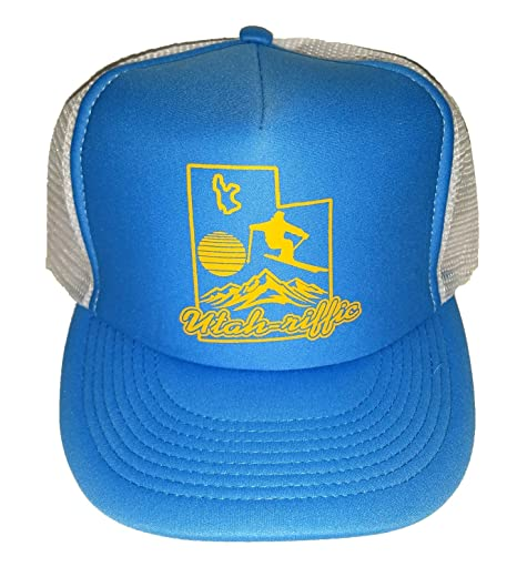 490205eb364 Image Unavailable. Image not available for. Color  Utah Riffic Ski Mesh  Snapback Trucker Hat ...