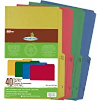 Hilroy 65000 Enviro-Plus Colored Recycled File Folders, Legal Size, 9x14-7/8-Inch, 9.5 Point, Pack of 40, Assorted…