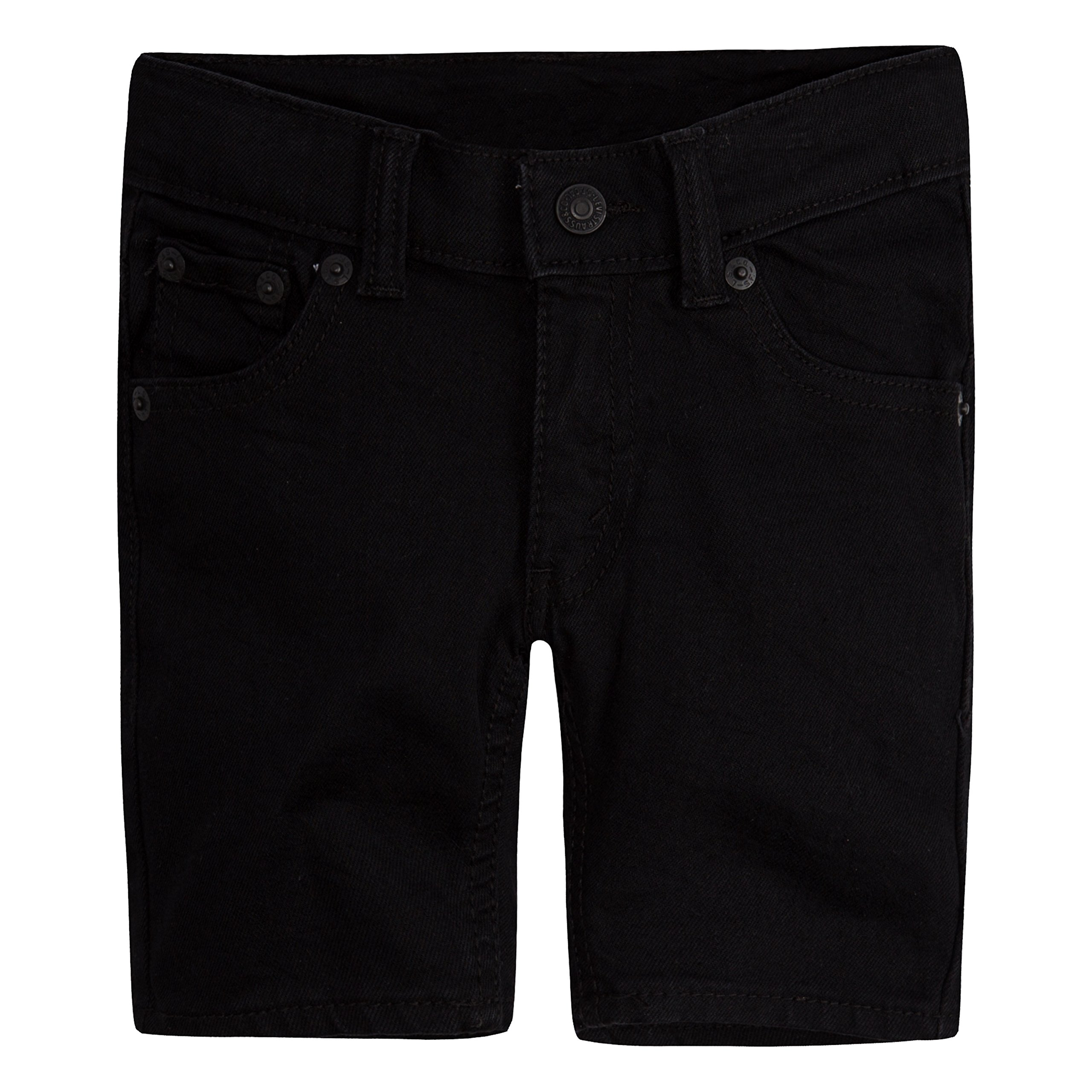 Levi's Boys' Big 511 Performance Shorts, Black Stretch, 16