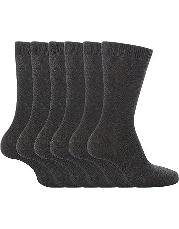 eea2e408b 6 Pack Unisex Kids Boys Girls Thin Soft Plain Coloured Cotton Rich School  Socks