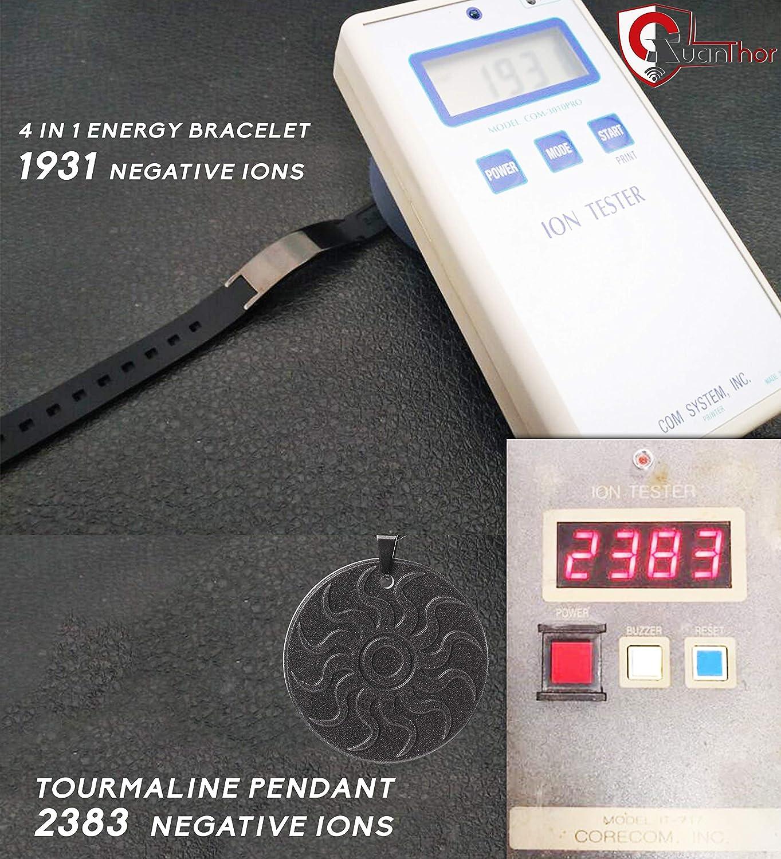 Brazalete de protección radiológica anti-EMF QUANTHOR (collar de bonificación) Brazalete magnético 4 en 1 (iones negativos 1500, germanio, infrarrojo lejano ...