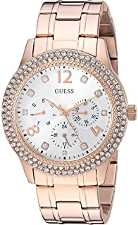 Guess Gold-Tone Rhinestone Sport Watch