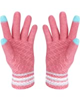 HOTER® Christmas Lover Snow Print Keep Warm Iphone Touch Screen Gloves