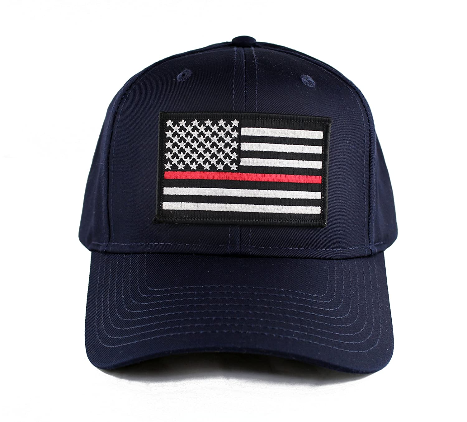 f9eb3434c7e Thin Red Line Fire EMS Embroidered Iron on Patch Snapback Cap (Black) at  Amazon Men s Clothing store