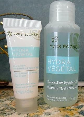 Yves Rocher En Miniatura Hidratante Duo Hydra Vegetal Agua Micelar 2 En 1 24h Intenso Gel Crema Beauty