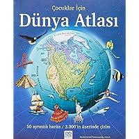 Çocuklar İçin Dünya Atlası: 50 ayrıntılı harita / 3000'in üzerinde çizim: 50 ayrıntılı harita / 3000'in üzerinde çizim