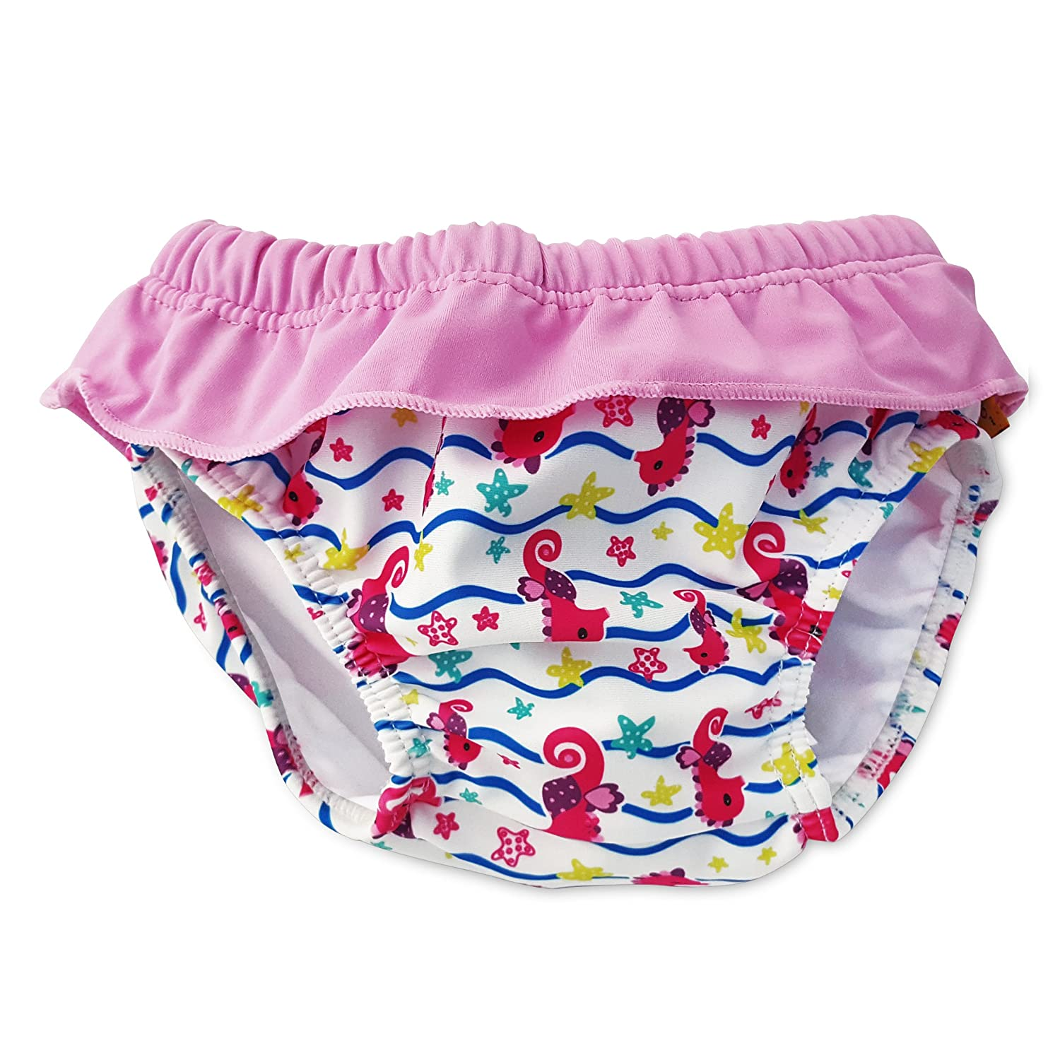 Cheekaaboo Swim Diapers for Baby & Kids, Adjustable and Reusable, 0-30 Months, 5 Designs BRSDUTSC