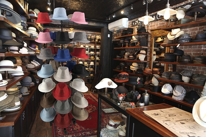Amazon.com: McWay exhibidor de sombreros de 7 niveles y 35 ...