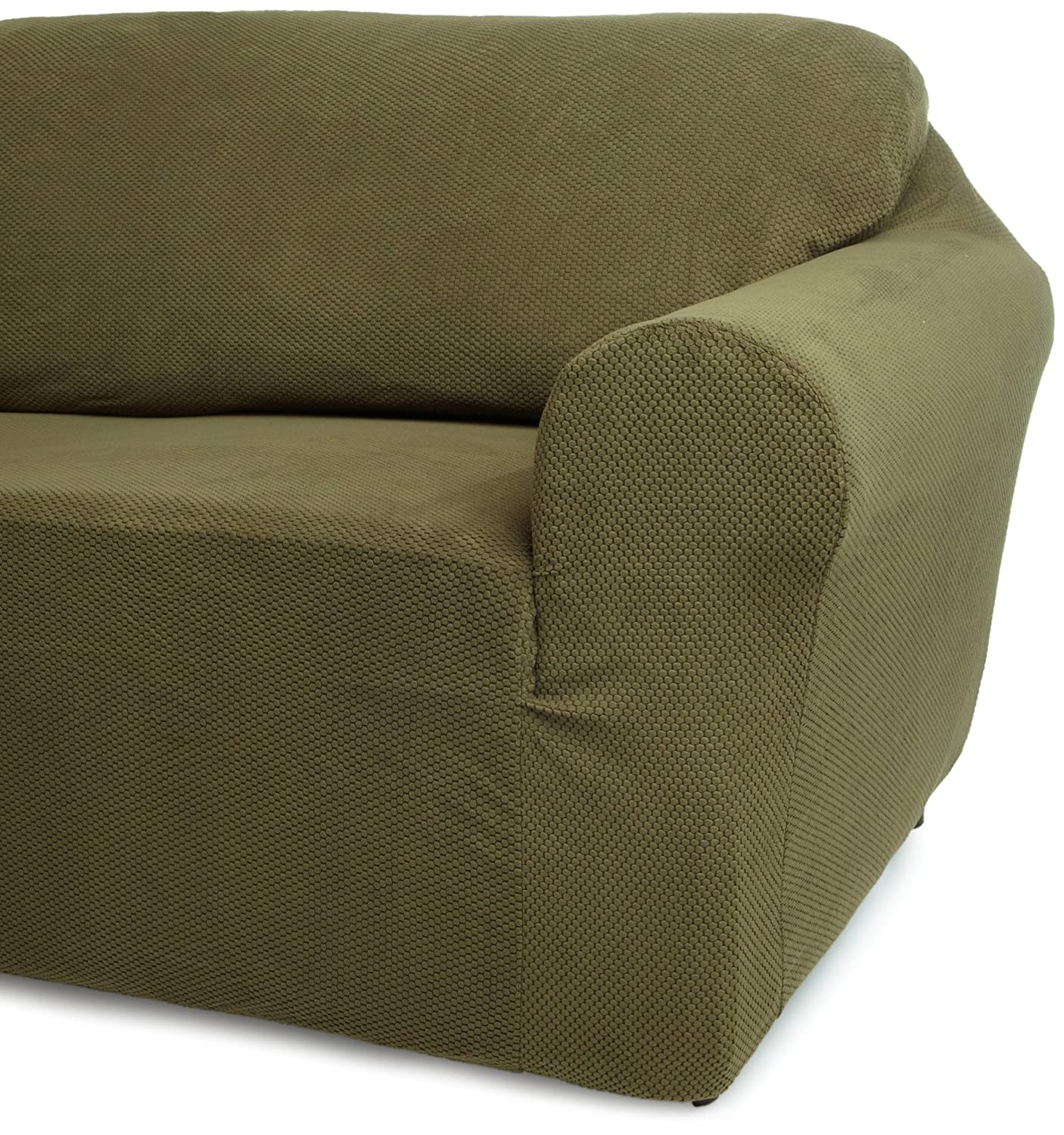 Amazon Classic SlipCovers 78 96 Inch Sofa Cover Olive Green