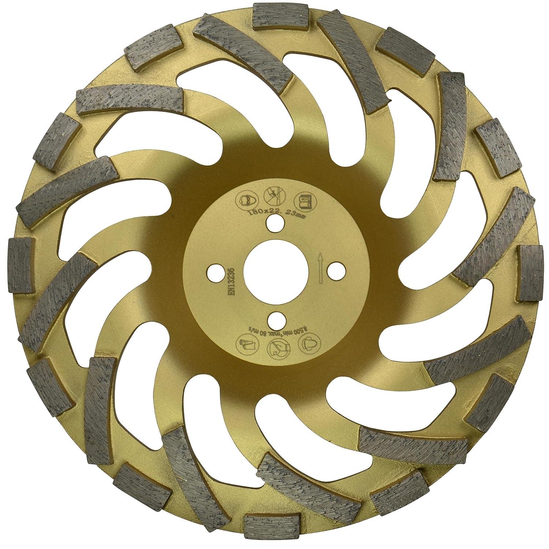 Metall Absaughaube f/ür Winkelschleifer /Ø 230 mm inkl 1x Schleifteller Premium /& Ersatz-B/ürstenband 650 mm