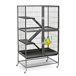Prevue Hendryx Black Feisty Ferret Cage