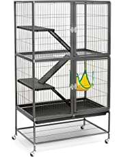 Prevue Hendryx 485 Pet Feisty Ferret Home with Stand, Black Hammertone