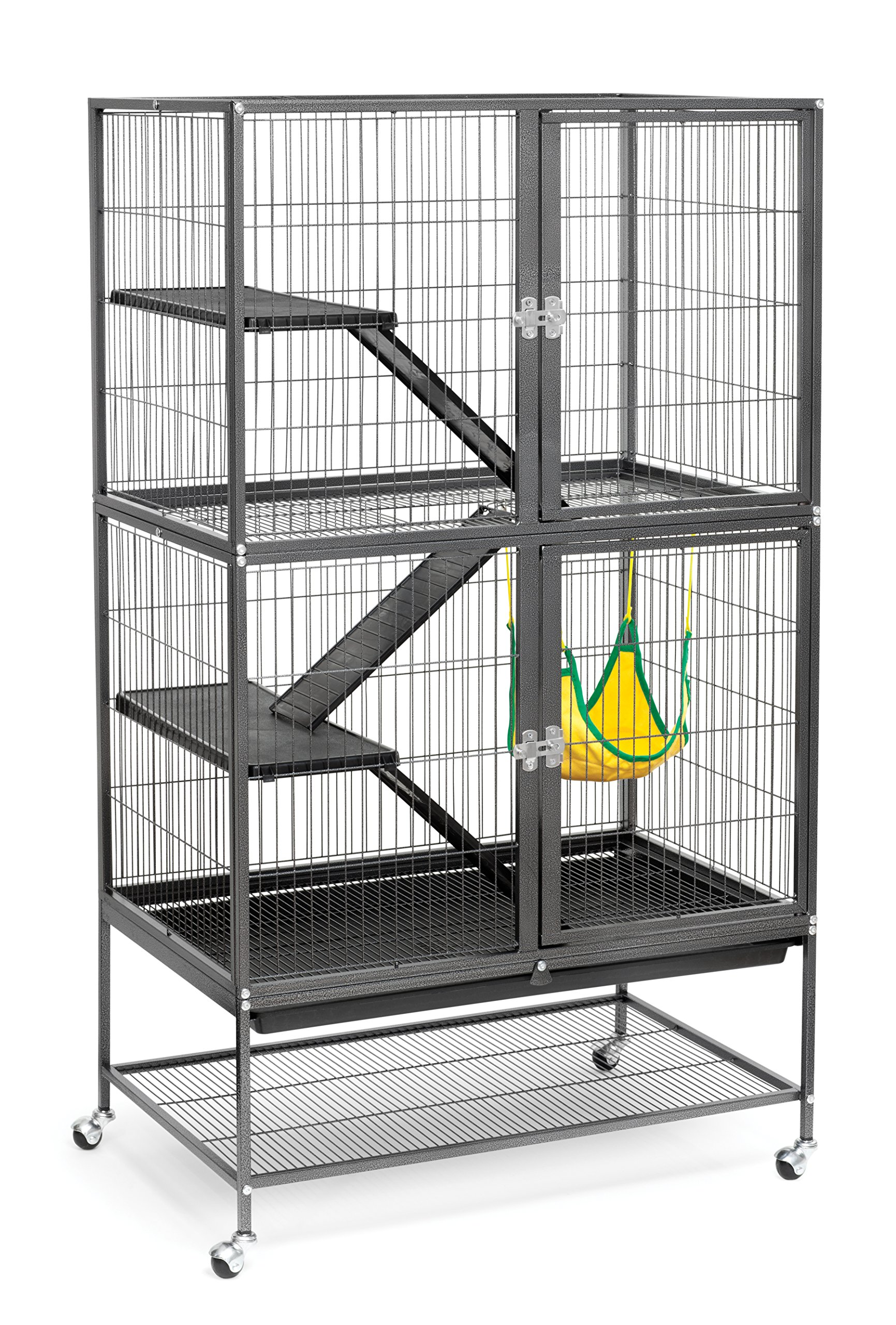 Prevue Hendryx 485 Pet Products Feisty Ferret Home with Stand, Black Hammertone by Prevue Hendryx