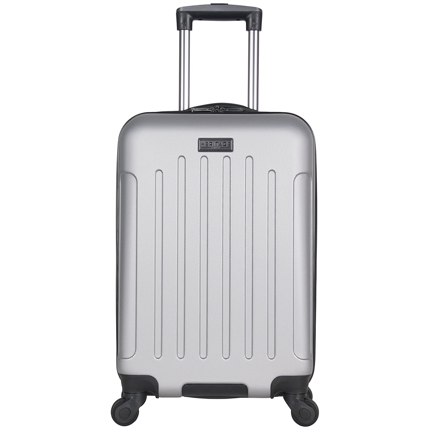 Heritage Travelware Lincoln Park 20 Hardside 4-Wheel Spinner Carry-on Luggage, Charcoal 882568