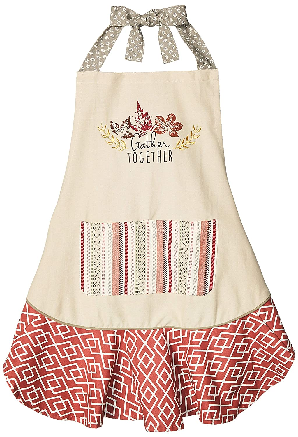 DII CAMZ35782 Fall Kitchen Apron 28.5 x 26 Gather Together