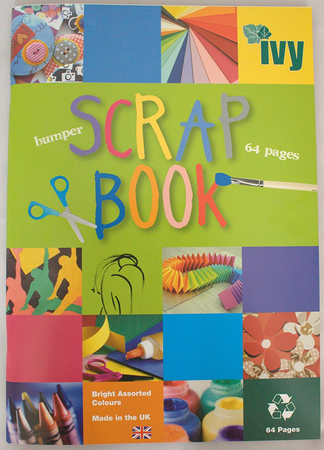 6 x SCRAPBOOKS EXTRA LARGE JUMBO 64 COLOURED PAGES 370mm x 240mm ...