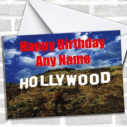 Tarjeta de cumpleaños Hollywood: Amazon.es: Oficina y papelería