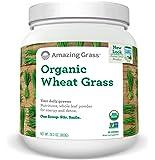 Amazing Grass Organic Wheat Grass Powder, 100 Servings, 28.2oz, Greens, Detox, Immune Support, Alkalize, whole leaf, vitamin K, Gluten Free, GMO Free, Kosher, wheatgrass, vegan