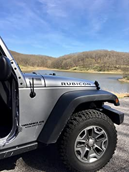 AntennaMastsRus 4 Black Aluminum Antenna is Compatible with Jeep Wrangler YJ/TJ Made in USA 1987-2006