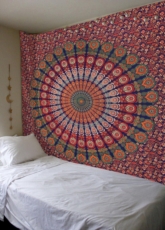 Amazoncom Madhu International Mandala Bohemian Tapestry Wall