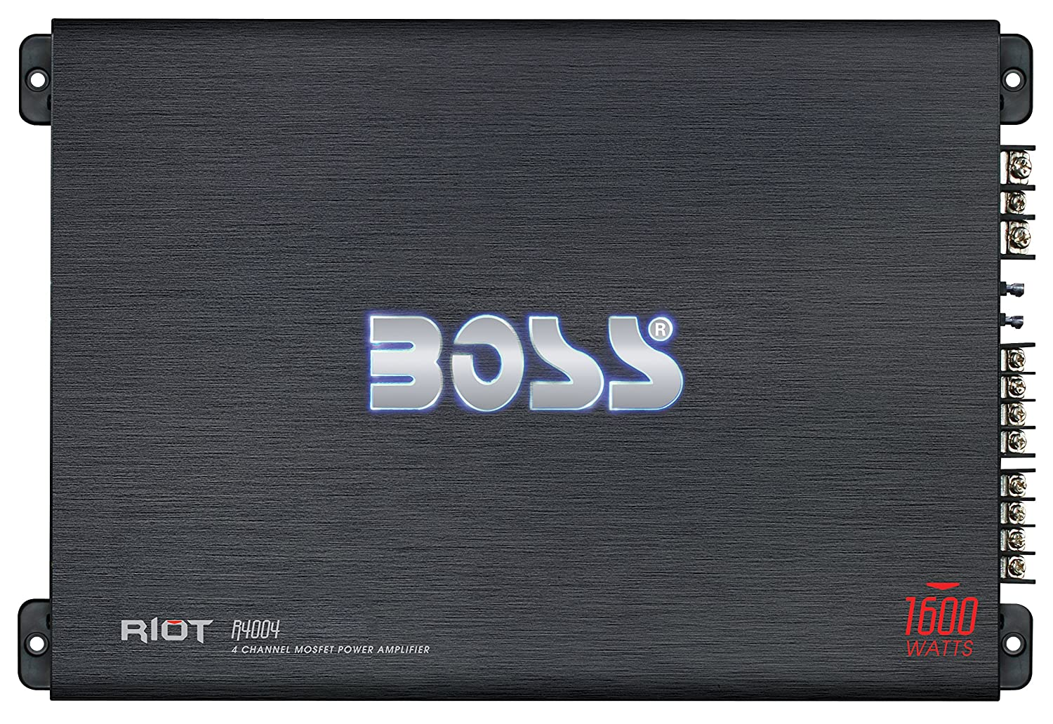 Boss Audio R4004 Riot 1600 Watt 4 Channel 2 Ohm 2220 Bose Amplifier Wiring Diagram Stable Class A B Full Range Bridgeable Mosfet Car With Remote Subwoofer