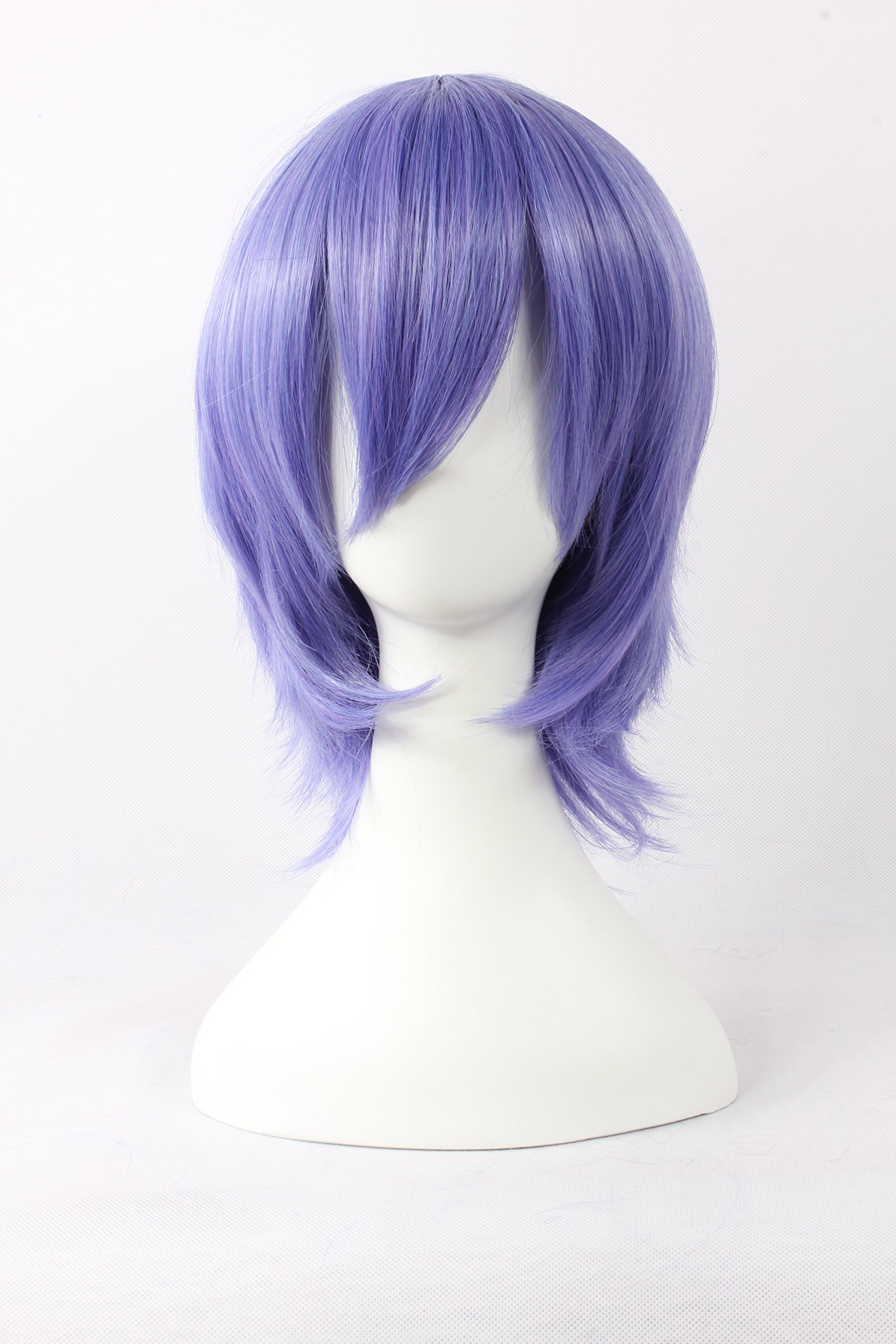 Coolsky Wigs Pandora Hearts,LetterBee,TouhouProject Blue&Purple Hair Cosplay Wig