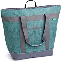 Jumbo Insulated Cooler Bag (Heather Green) with HD Thermal Foam Insulation - Premium Quality Insulated Tote Bag. Perfect…