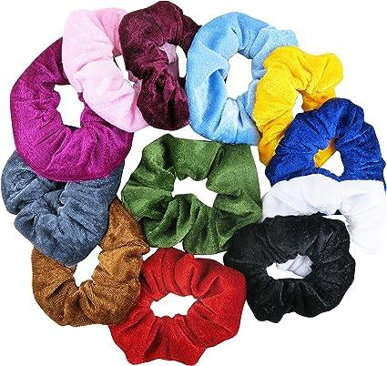 Pack de 12 pelucas de terciopelo para el pelo, sujetadores de ...