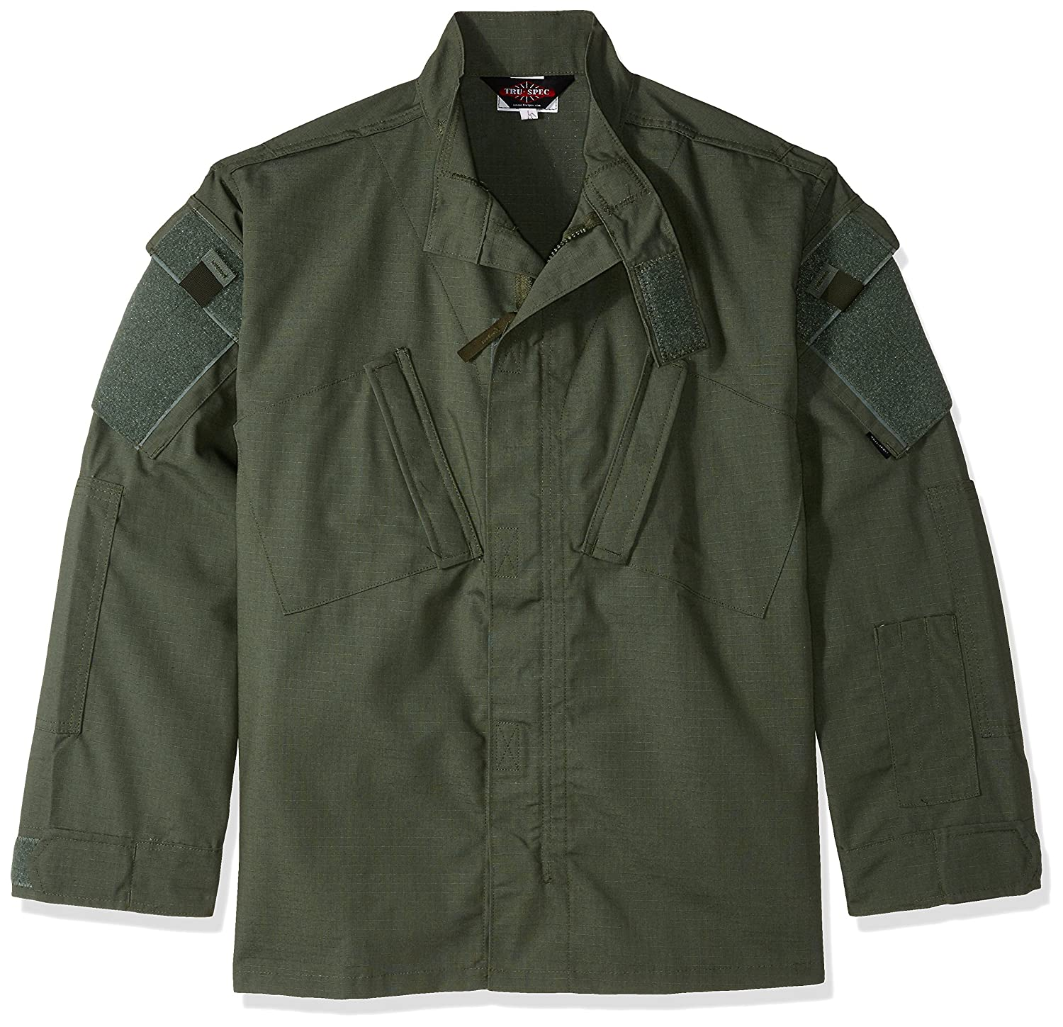 TRU-SPEC 1284044 Tactical Response Uniform Shirt, Polyester Baumwolle Rip-Stop, Medium kurz, Olive Drab