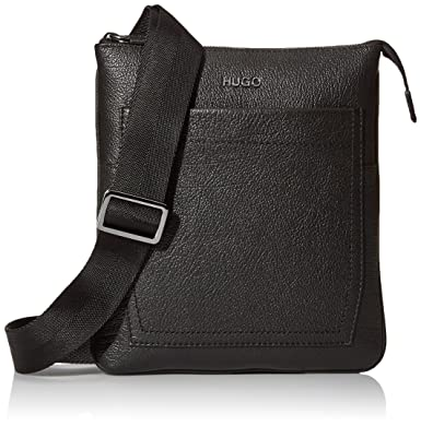 a6f6026f1b BOSS Hugo Boss Men s Twin Leather Zip Pouch Reporter Bag  Amazon.co.uk   Clothing