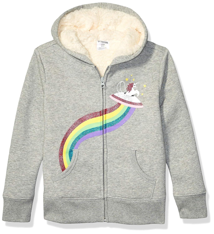 Spotted Zebra Unisex Kids Sherpa-Lined Fleece Zip-up Hoodies Brand