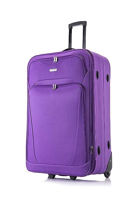 XL grande medio pequeño y ligero maleta equipaje bolsa de viaje CABINA Morado morado 26