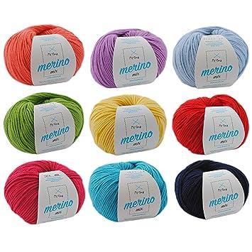 Merinowolle Kaufen Wollmix Farbenfroh Xl Bunte Wolle Zum