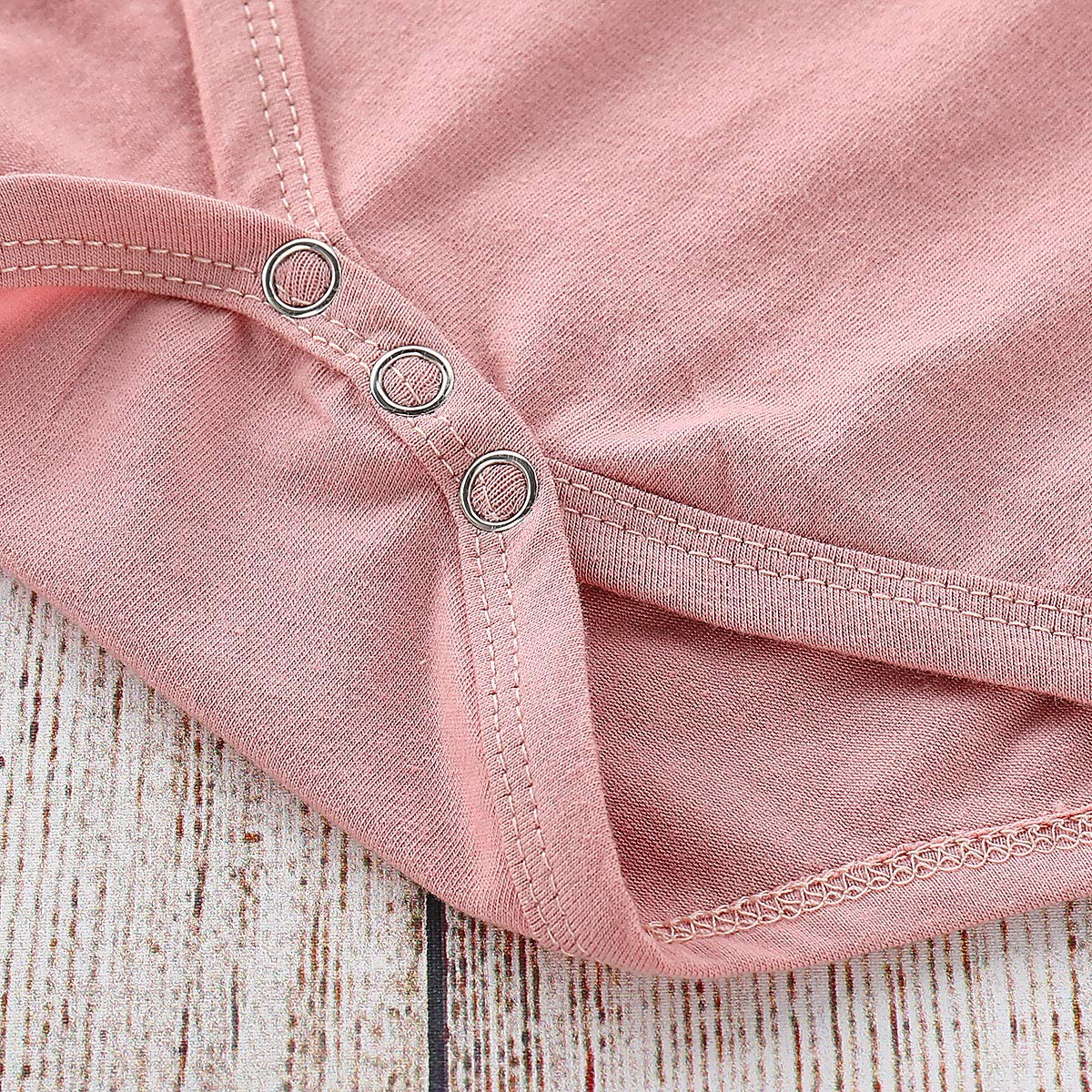 VISGOGO 3PCS Toddler Kids Baby Girls Short Sleeve Romper Tops Strap Skirt Dress Headband Outfit Clothes Set