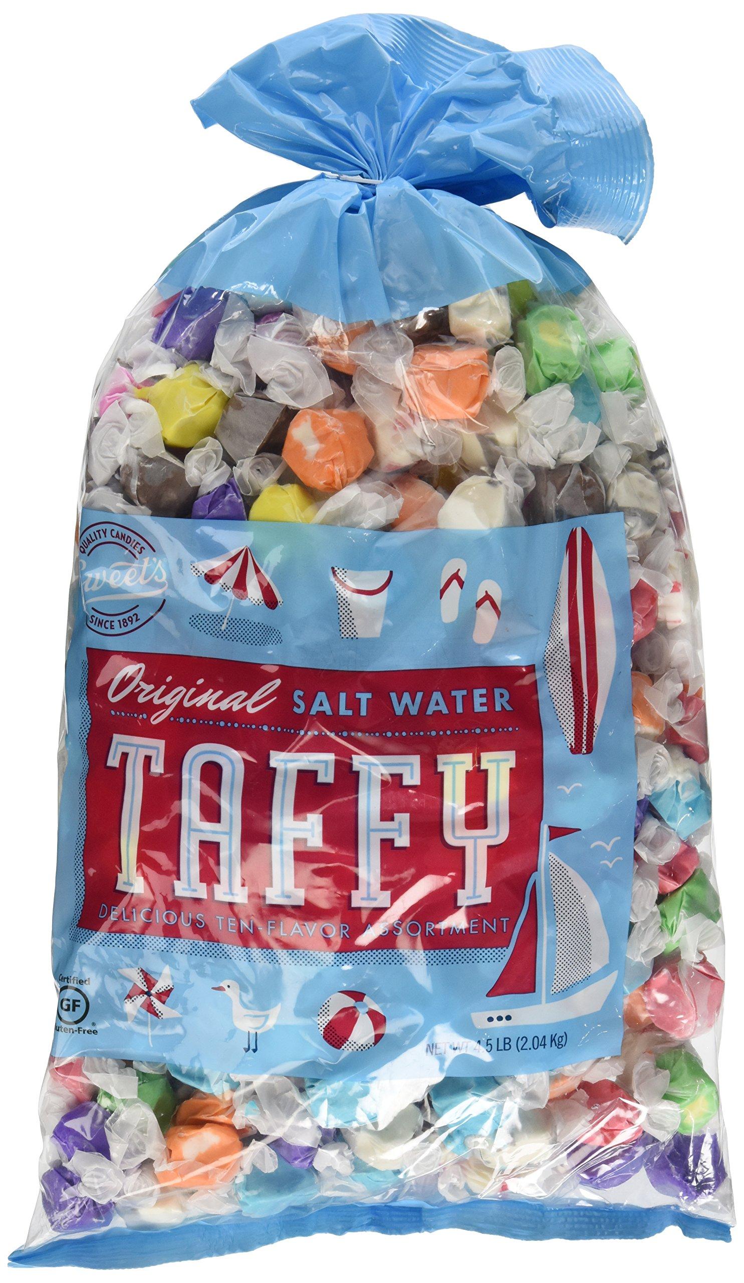Sweet's Original Salt Water Taffy Assortment 4.5 Pound by Sweet's Saltwater