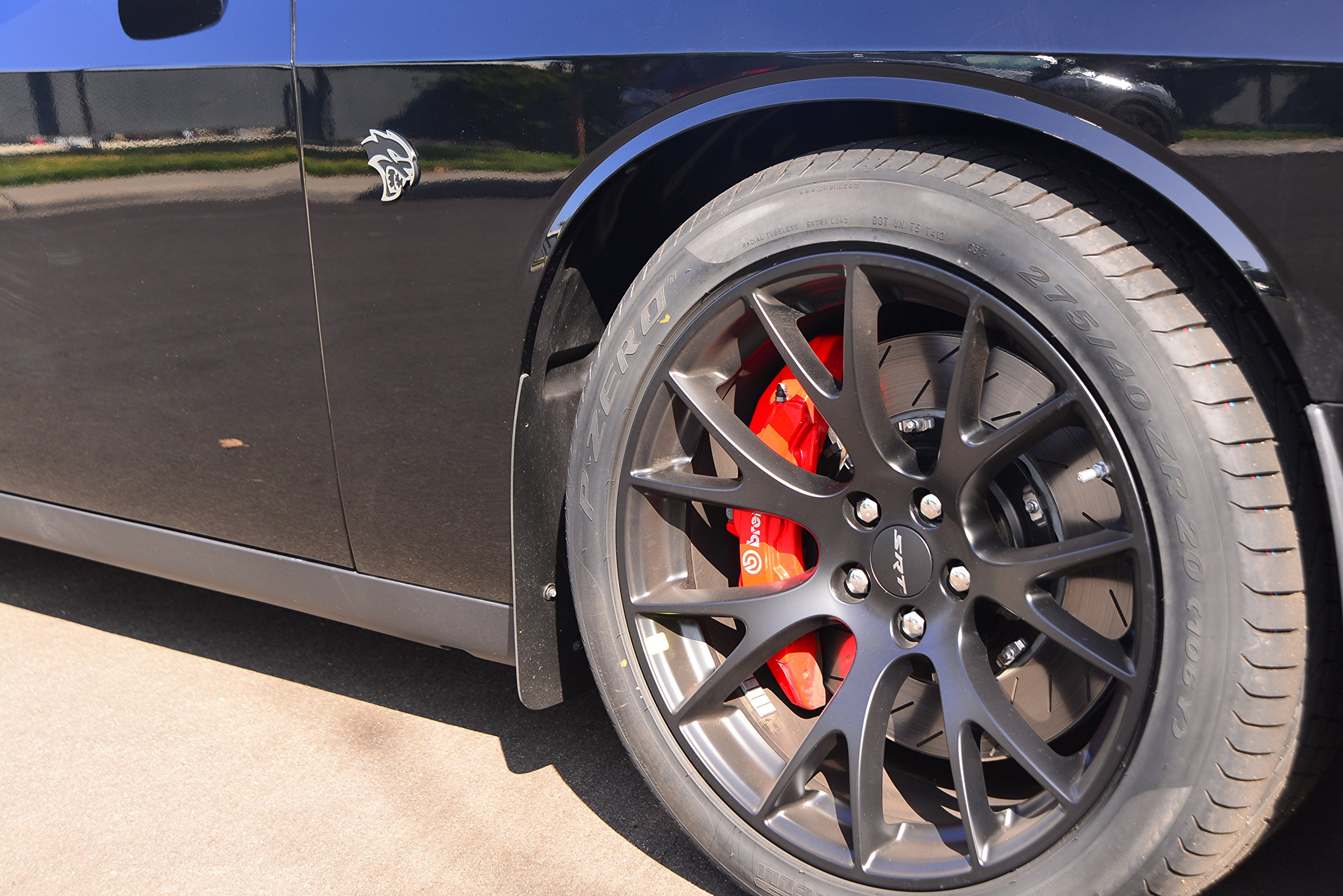 ZL1 Addons Front Deluxe Rock Guards 1 Pair Compatible with Challenger incl Hellcat 2015//19