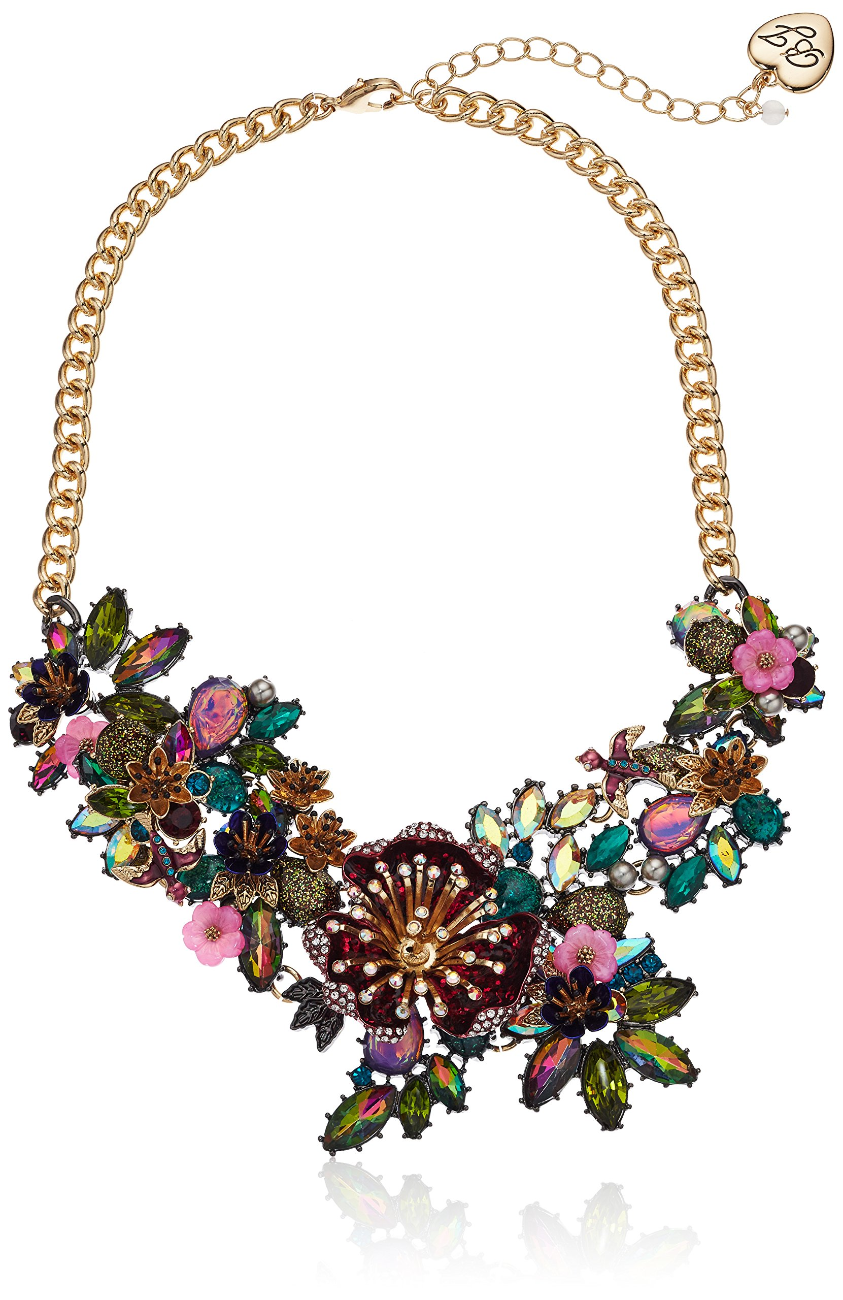 Betsey Johnson Surreal Forest Flower Statement Frontal Necklace