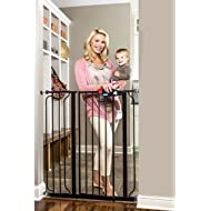 Regalo Easy Step Extra Tall Walk Thru Gate, Bonus Kit, Includes 4-Inch Extension Kit, 1 Pack of Pressure Mount Kit and 1 Pack of Wall Mount Kit, Black