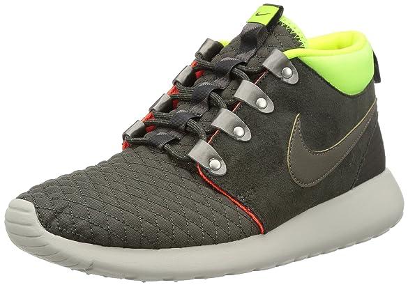 hot sale online 95d81 9d9a7 Amazon.com   Nike Men s Roshe Run Sneakerboot Newsprint Smoke Volt Ttl  Crmsn Running Shoe 8 Men US   Running