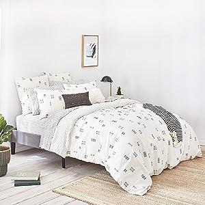 Splendid Home Crosshatch Comforter Set, Full/Queen, Ivory