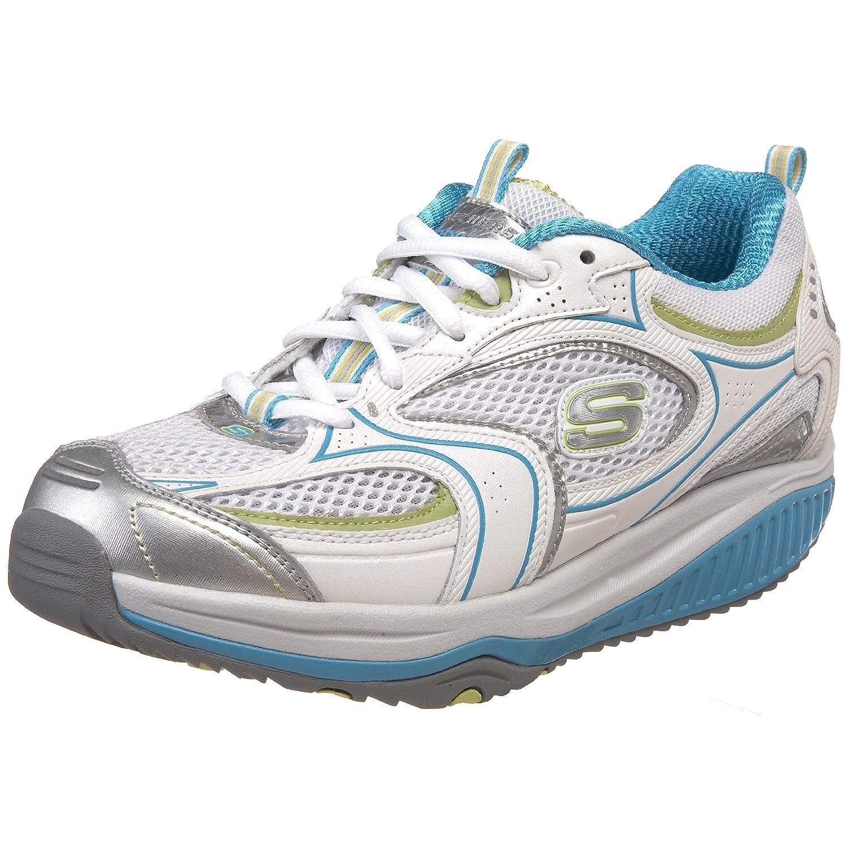 Skechers Women's Shape Ups XF Accelerators Fashion Sneaker B00377GT44 8 B(M) US|White/Light Blue/Gray