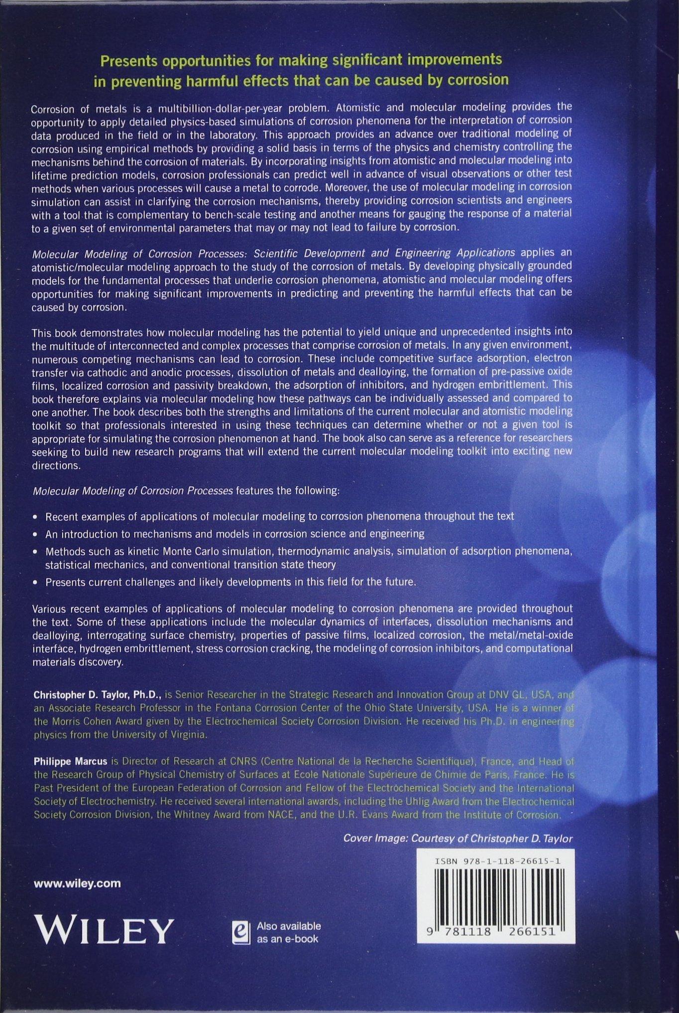Molecular Modeling of Corrosion Processes: Scientific