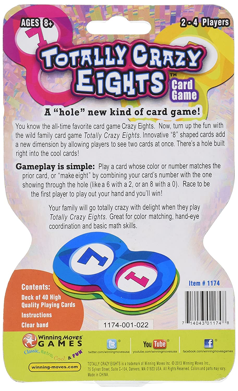 Amazon Totally Crazy 8s Card Game Toys Games