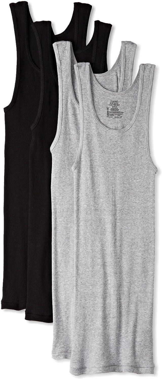 Hanes Men's Ultimate Comfortsoft Dyed Tank Undershirt (4-Pack) Hanes Men' s Underwear 7993BG